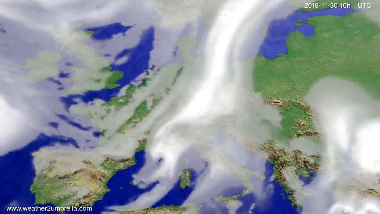 Cloud forecast Europe 2018-11-27