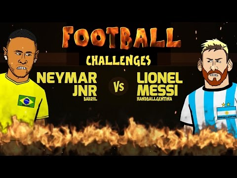Neymar vs Messi: FOOTBALL CHALLENGES! (Parody Brazil vs Argentina 3-0 2016 World Cup 2018)
