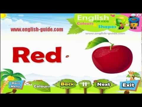 تعليم الاطفال الانجليزية الالوان