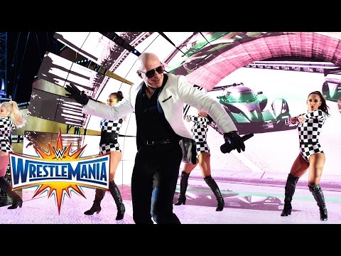 Pitbull, Flo Rida, Lunchmoney Lewis &Stephen Marley perform at WrestleMania (WWE Network Exclusive)