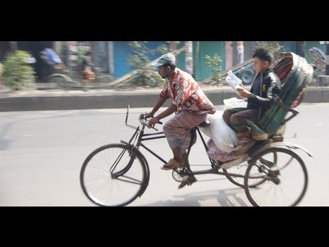 Rickshaw Ride in Old Dhaka, Bangladesh & near the India - Bangladesh border