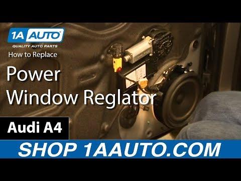 How To Fix Replace Broken Front Power Window Regulator 2003-08 Audi A4 S4 RS4