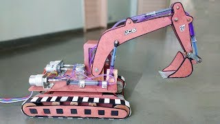 Video How to Make a Remote Control Hydraulic Excavator / JCB at Home MP3, 3GP, MP4, WEBM, AVI, FLV Juni 2018