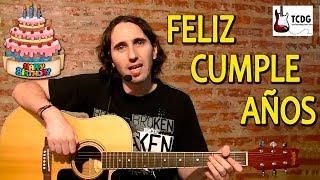 Como Tocar FELIZ CUMPLEAÑOS En Guitarra Acústica Fácil Para Principiantes! Canciones Faciles TCDG