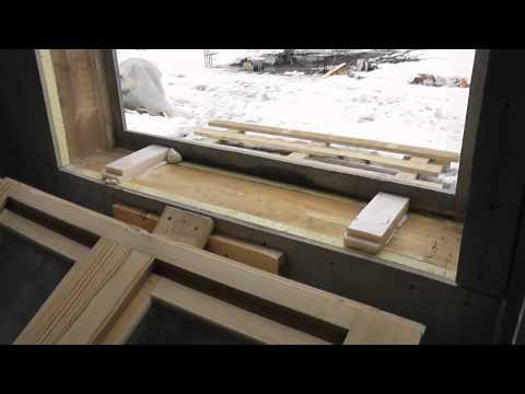 Монтаж пластиковых окон в каркасном доме своими руками