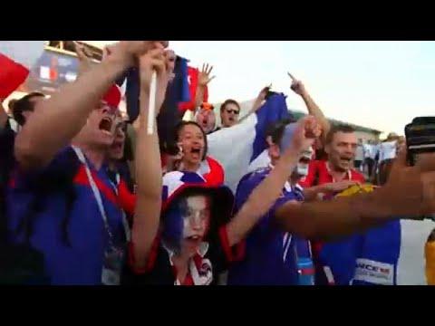 Ξέφρενοι πανηγυρισμοί για το 4-3 της Γαλλίας