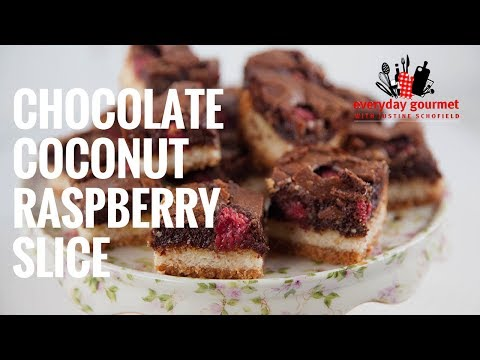 Chocolate, Coconut & Raspberry Slice | Everyday Gourmet S7 E90