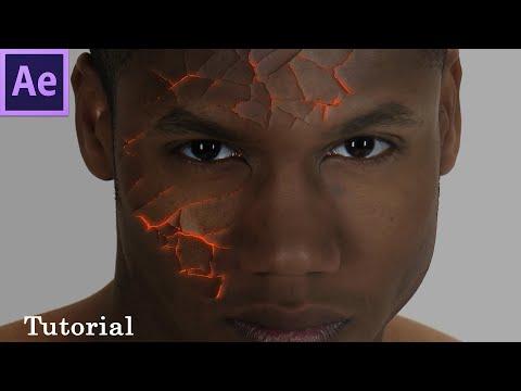 After Effects tutorial - Create cracked face like Jean Grey in X Men Dark Phoenix - 120