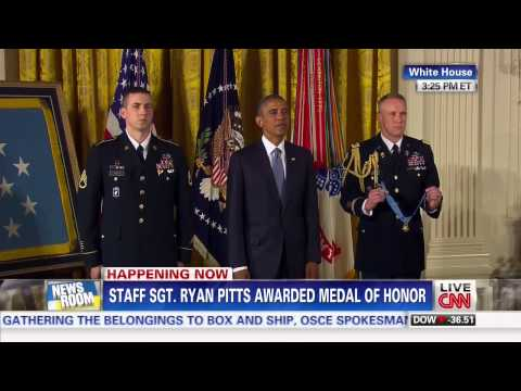 army - Army Sgt. Ryan Pitts Awarded Medal of Honor July 21, 2014 www.FreeBeacon.com.