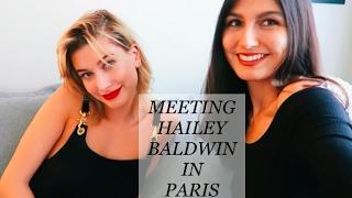 Hanging with Hailey Baldwin in Paris!