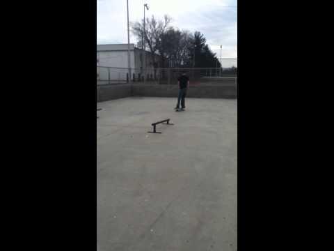 Camren busts a line at Portland skatepark