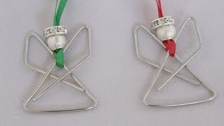 Angel Paperclip Ornament Tutorial - Christmas Angel craft - YouTube