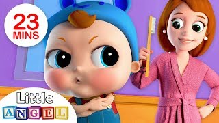 Video No No, Baby Wants The Big Boy Brush | Nursery Rhymes by Little Angel MP3, 3GP, MP4, WEBM, AVI, FLV Desember 2018
