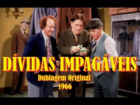 OS TRÊS PATETAS - DÍVIDAS IMPAGÁVEIS 1952 (Som Original 1966 Colorizado em 2006) - 4k
