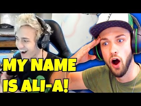 NINJA MAKES FUN OF ALIA-A! NINJA ALIA-A IMPRESSION! Fortnite Funny Silly Moments