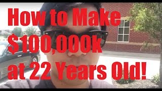 Hey big dreamers, I have been hearing updates on my Cal Poly Pomona video  about where I'm at and how to get here. Here is my story on pushing to make six figures at 22 years old. Let me know your thoughts!3 Step Process!1. Get serious with grades in High School: 3.5+ GPA, participate in clubs2. Own it at a decent college: GPA, club leadership, internships. Focus on a career in sciences, and do a LOT of research on career paths.3. Stay motivated and dedicated at work: Stay on top of technology, do next level things to get your promoted.