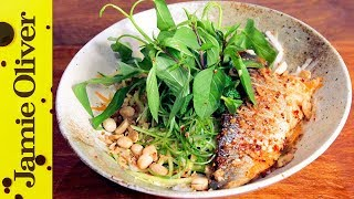 Seabass & Lemongrass Noodle Bowl   Thuy Pham-Kelly by Jamie Oliver