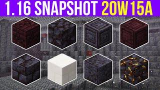 Minecraft 1.16 Snapshot 20w15a New Basalt Deltas Biome & Tons Of New Blocks!