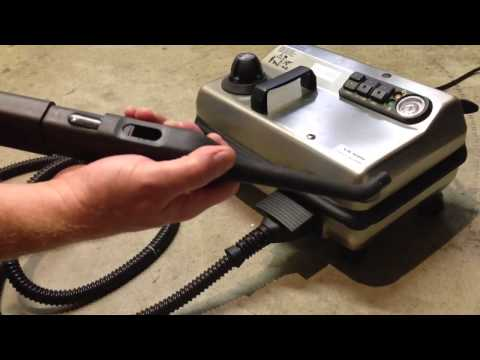 Steam cleaning grout using the VX 5000 steam cleaner