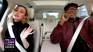 Samuel L. Jackson & Brie Larson Sing Ariana Grande's 7 Rings - Carpool Karaoke: The Series Preview -