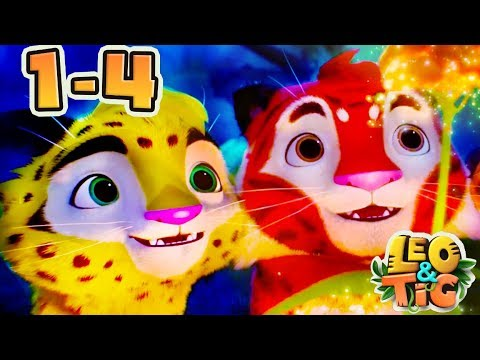 Leo and Tig - All episodes compilation (1-4) Good Animated Movies 2017 for kids - Moolt Kids Toons