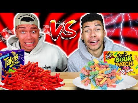 SCHARFES ESSEN VS SAURES ESSEN CHALLENGE !!! | Kelvin und Marvin