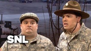 Video The Stuttering Drill Sergeant - SNL MP3, 3GP, MP4, WEBM, AVI, FLV Januari 2019