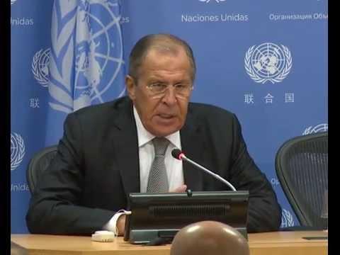 Пресс-конференция С.Лаврова по итогам 71-й сессии ГА ООН (видео)