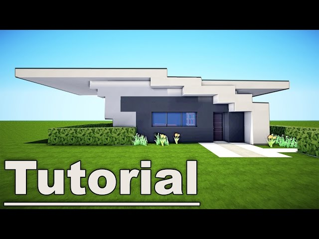 Minecraft small easy modern house tutorial 7 for pc xbox for Modern house mc