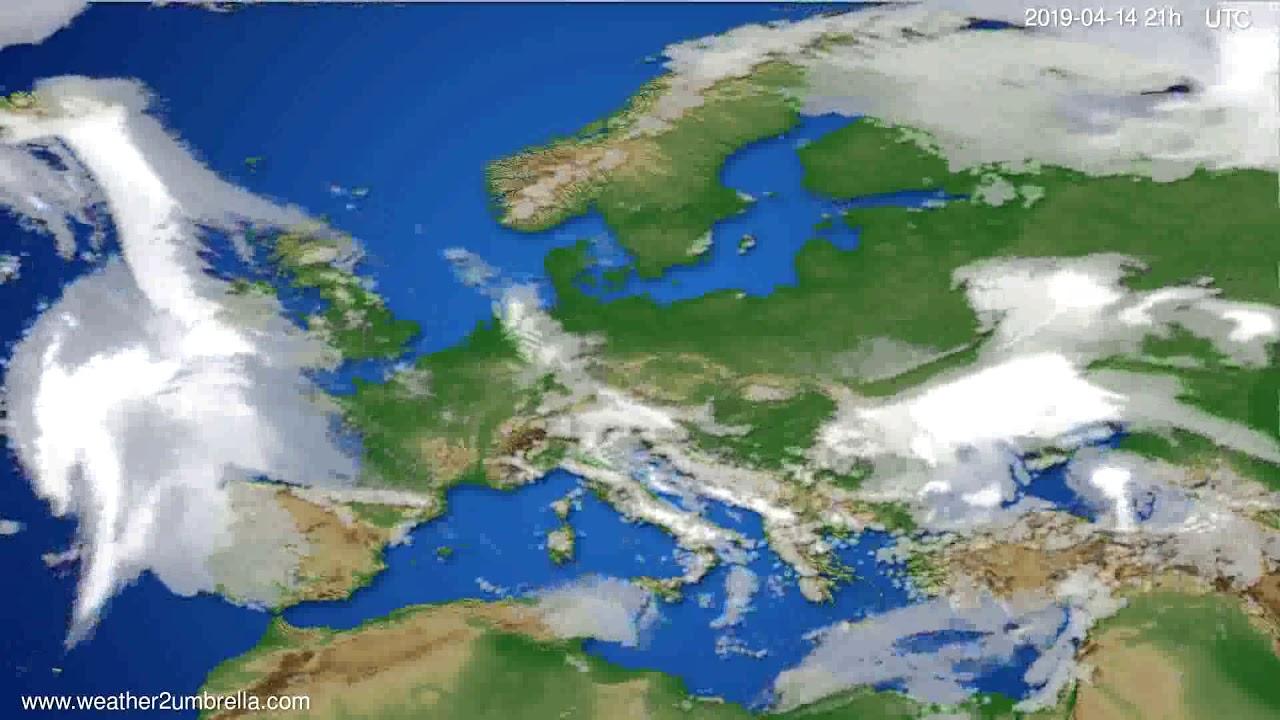 Cloud forecast Europe // modelrun: 00h UTC 2019-04-13