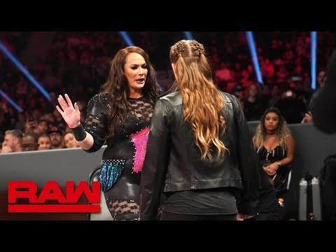 Ronda Rousey And Nia Jax's Face-to-face Gets Heated: Raw, Dec. 10, 2018