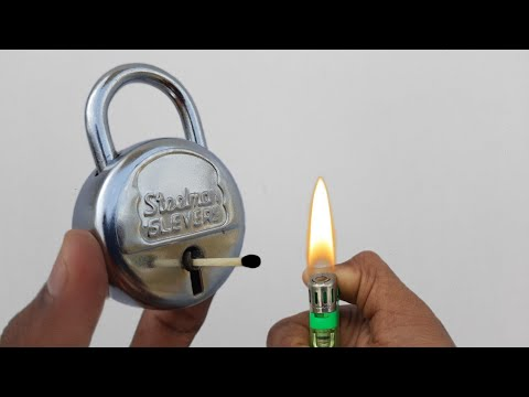 how to open lock without key   lock   how to break a lock   how to open a lock without a key