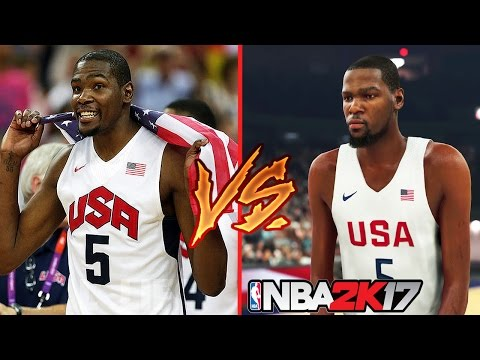 NBA 2K17 vs Real Life Face Comparisons Ft. LeBron James, Russell Westbrook,  Kevin Durant...etc
