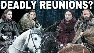 Welcome back for another Game of Thrones Season 7 Prediction video. Today I will be discussing Arya Stark and all her potential reunions in this upcoming Season. She is on a crash course with so many old friends and foes which should make for a very exciting story. Comment down below with which reunion you want to see the most. Thanks for watching! Images from Game of Thrones are property of their creators, used here under fair use. Support the channel on Patreon here! https://www.patreon.com/TalkingThronesFollow me on Twitter here! https://mobile.twitter.com/Talking_ThronesI want to thank all of you that support my channel.Special thanks to my Patreon Supporters! I love you all.