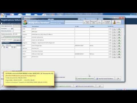 Software contabilità Blustring - Esempi di registrazione di fatture di acquisto