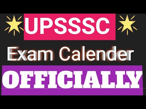 UPSSSC EXAM CALENDAR ||UPSSSC BREAKING NEWS||UPCOMING EXAM DATE ANOCEMENT||VDO SIT ||By@Gajendra Sir