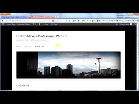 Make a Professional Website #7 — A Contact Form for WordPress