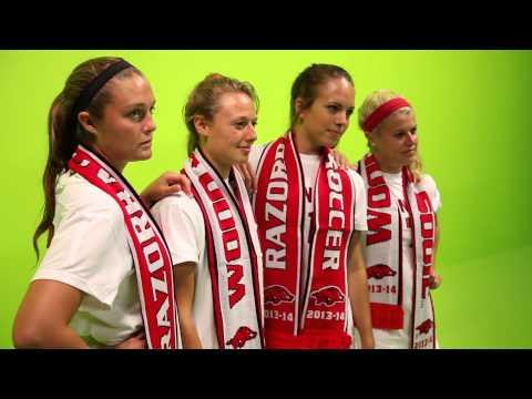 Razorback Soccer Poster / Soccer Scarf Photo Shoot