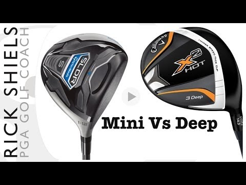 TaylorMade Mini Driver Vs Callaway X2 Hot Deep