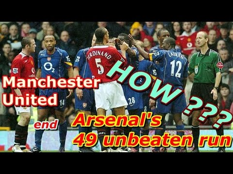 How Manchester United End Arsenal's Unbeaten Run In The 2004/5 Season