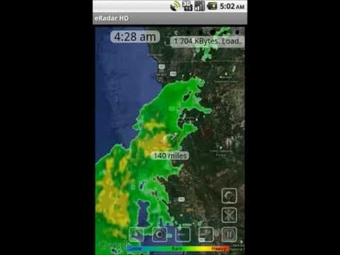 Video of NOAA eRadar HD and Alerts