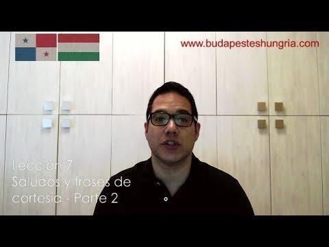 Frases para enamorar - Aprende húngaro - lección 7 - saludos y frases de cortesía - parte 2