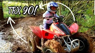 7. Six Year Old Riding Honda TRX 90 On The Trails