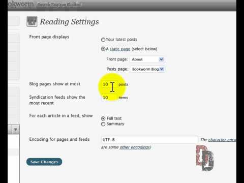 WordPress Tutorial For Beginners Part 4 – General Settings part 2