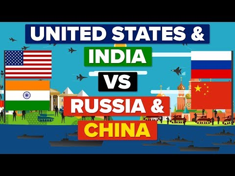 USA amp India VS China amp Russia - Who Would Win? Army  Military Comparison