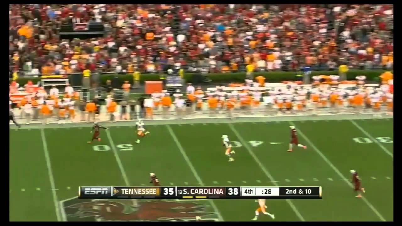 Justin Hunter vs South Carolina & Troy (2012)