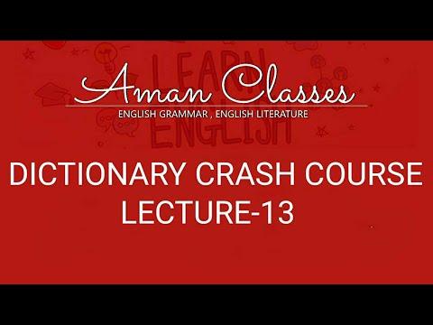 DICTIONARY CRASH COURSE LECTURE-13