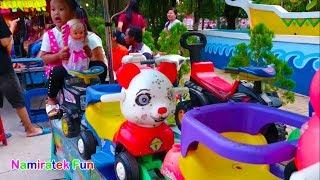 Naik Odong odong mobil mini Binatang Lucu yang banyak sekali bersama teman