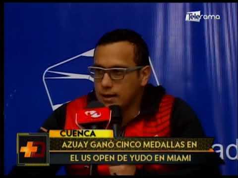 Azuay ganó cinco medallas en el US Open de yudo en Miami