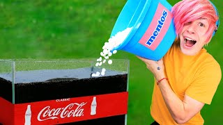 Experiment: 20 GALLONS OF COCA COLA VS 1000 MENTOS